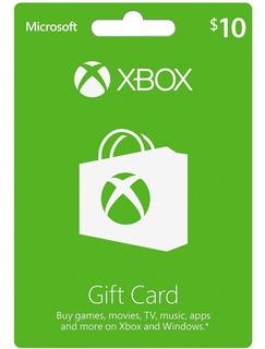 Tarjetas De Recarga Xbox Live $ 10 Saldo Xbox Gift Card
