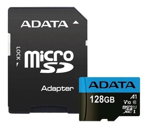Imagen 1 de 3 de Memoria Micro Sdxc 128gb Adata Clase 10 Video Full Hd V10