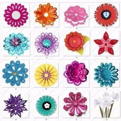Silhouette Cameo Arquivos Recorte Kit + 60 Moldes De Flores
