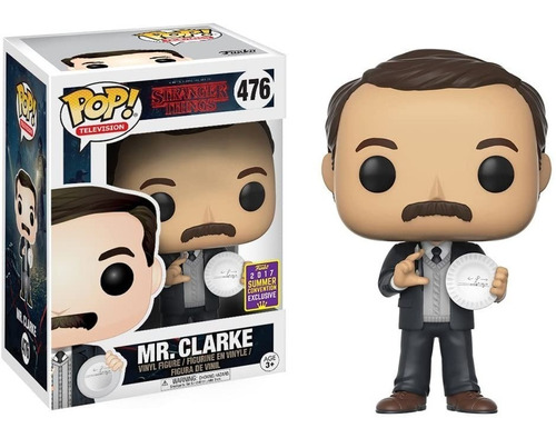 Funko Pop Stranger Things Mr. Clarke 476 Sdcc ´17 Exclusivo