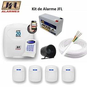 Kit Central De Alarme C/ Fio Active 20 Ethernet C 4 Sensores