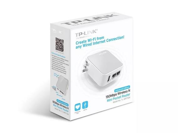 Tp Link Roteador Wifi Portátil Ap Tv Game 150mbps Tl Wr710n.