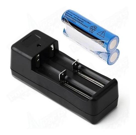 Kit Carregador Duplo+2 Bateria 18650 5800mah+1 Bateria 26650