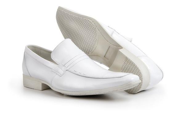 Sapato Social Masculino Branco Bico Fino Medico Dentista