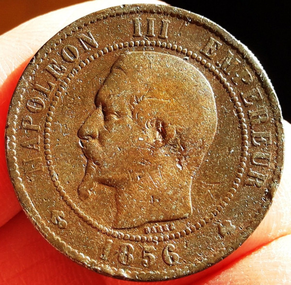 Francia Moneda De Bronce Del Año 1856 - Napoleon Iii - Vf+