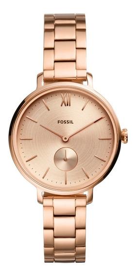 Relógio Fossil Feminino Kalya Rosé Es4571/1jn