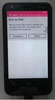 Nokia Lumia 620 Rm846 - Touch Trincado