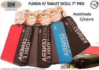 Funda P/ Tablet Dcell 7 Pro Acolchada Con Cierre