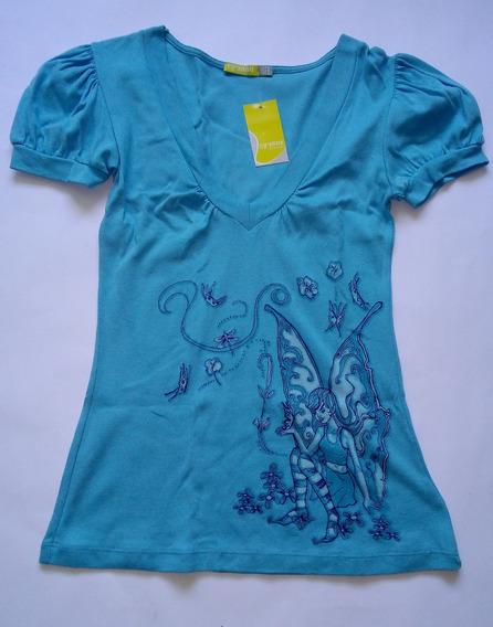 Blusa (franela/camisa) Para Dama Talla L Color Cyan