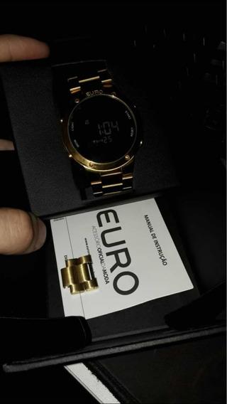 Relógio Euro Unissex Dourado