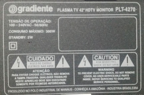 Kit - Tv Plasma Plt-4270 + Conversor(decoder) Tv/digital Ion