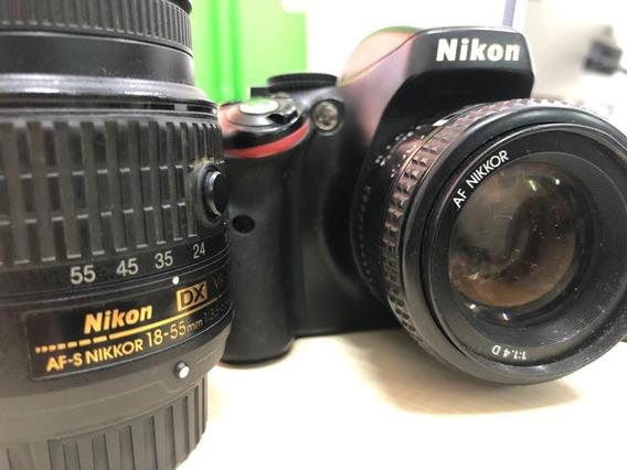 Câmera Nikon D5100 + Lente 18-55mm + Lente 50mm(foco Manual)