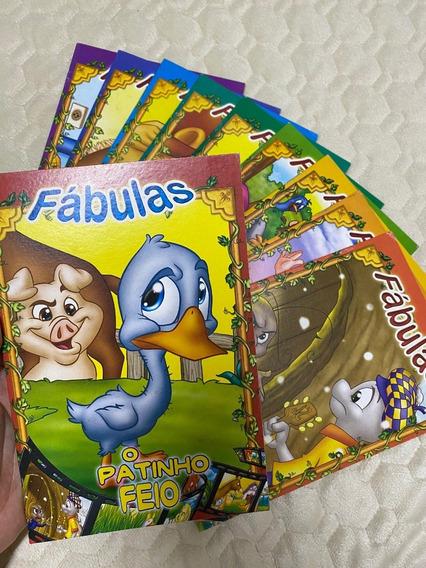 Coleção Fábulas - 10 Livros Infantis Novos