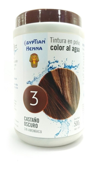 Tintura En Polvo Egyptian Henna Al Agua 500 Gr Sin Amoníaco