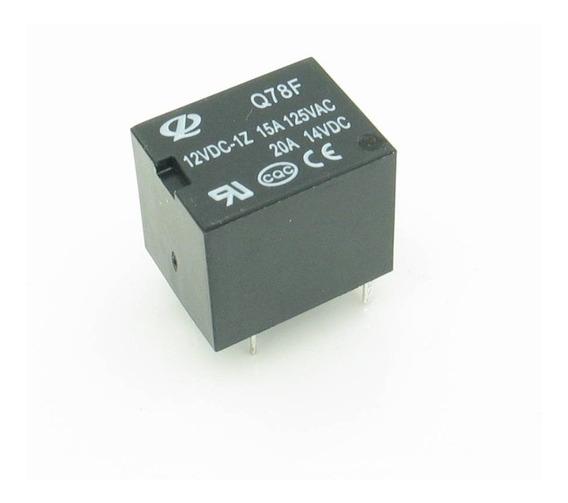 10 * Rele 12v 10a 1 Contato Reversível 5 Pinos Mini
