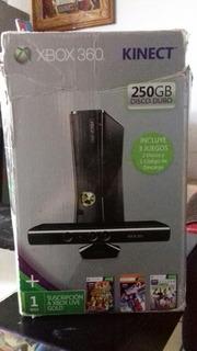 Xbox 360 S,disco Duro 250gb,dos Palancas,kinect Y 5 Juegos