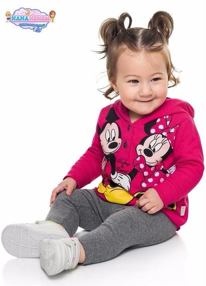 Conjunto Bebê Minnie E Mickey Com Capuz Lançamento Cód: 237