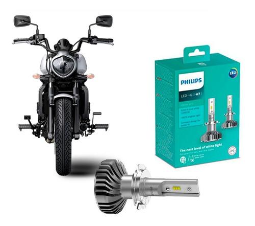 2 Unidade Lâmpada Moto Philips Ultinon Led H7 6200k +160%