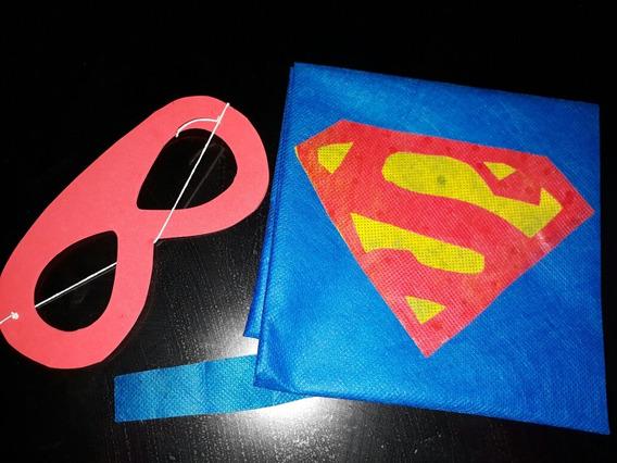 Capas+ Antifaz Estampadas Superheroes Friselina Oferta !