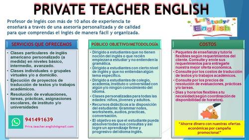 Clases Particulares De Inglés - Private Teacher
