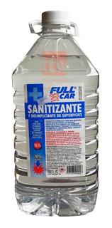 Sanitizante Full Car 5lt Alcohol 70% Desinfectante Liquido