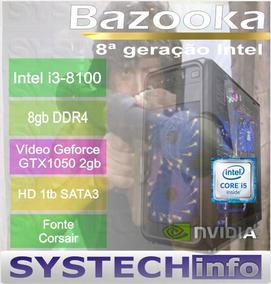 Computador Intel I3 8100 8ª Geração Gtx1050 2gb Bazooka