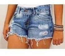 Shorts Jeans Destryed E Jaqueta Jacquard