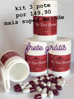 Kit 3 Fat Red Burner 30 Cápsula+frete Grátis+super Brinde