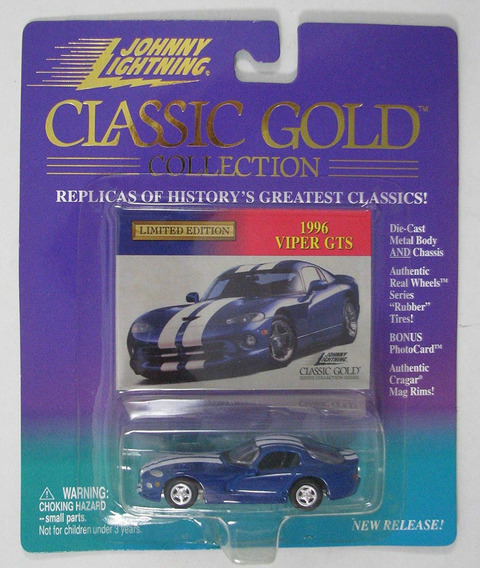 Auto 1996 Viper Gts Johnny Lightning Coleccion Gold Rdf1
