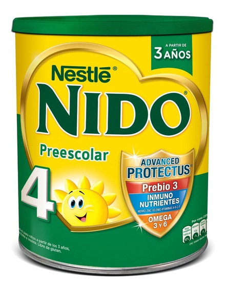 Nido 4 Prebio3 Leche En Polvo Lata X 800g Nestlé Oficial