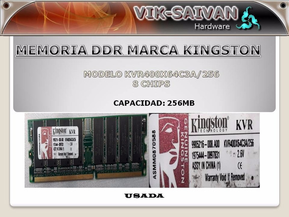 Memoria Ddr Kingston 256mb Pc-3200 400mhz 8 Chips 5