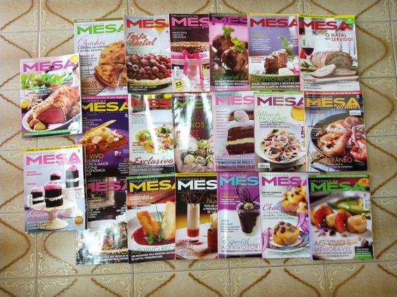 Lote Com 20 Revistas Mesa Culinária Para Coleção Revenda 017