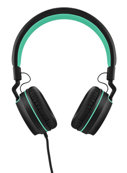 Headphone On Ear Stereo Preto/verde - Pulse - Ph159
