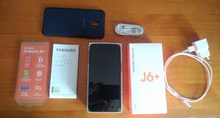 Samsung Galaxy J6+ 32gb 2chips Com Película E Capa + 32gb