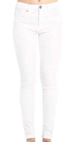 Jean Mujer Tall Chupin Blanco Elastizado Ossira.653