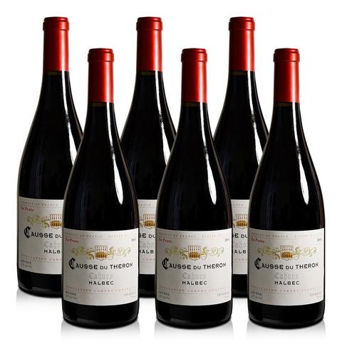 Imagen 1 de 5 de Vino Francia Cahors Causse Du Théron En Pente Malbec - X6