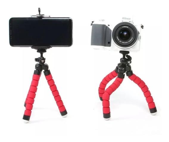 Suporte Tripé Para Celular Máquina Fotográfica Flexível 360°