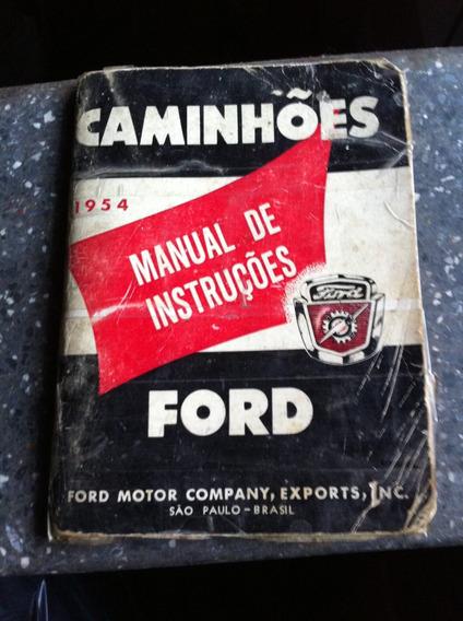 Manual Original Ford Caminhões De 1954 Traduzida Rara