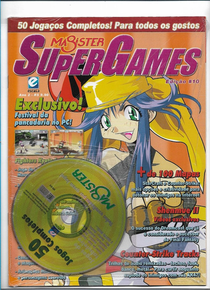 Magister Super Games 10 Revista Com Cd 50 Jogos