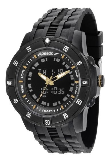 Relógio Masculino Speedo Preto 81127g0evnp6 Garantia C/ Nf