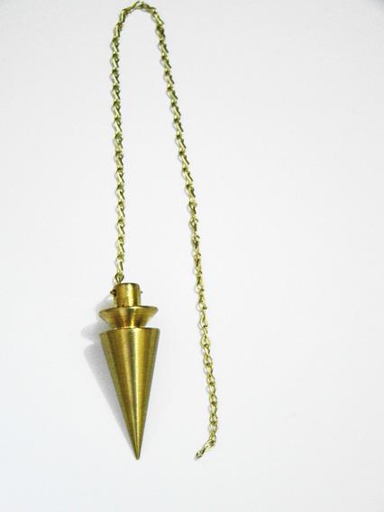 Pêndulo Pião Dourado Metal Radiestesia 4cm