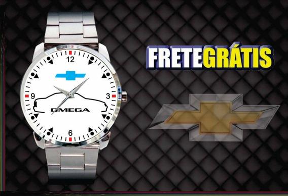 Relógio De Pulso Personalizado Logo Chevrolet Omega Gm Azul