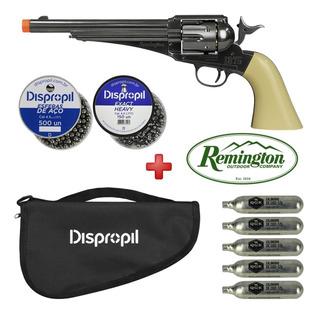 Revólver Co2 Remington 1875 Dual Ammo 4.5 + Capa + Munição