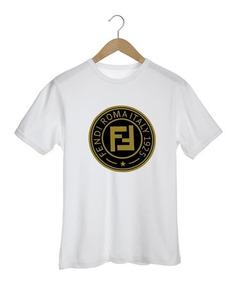 Camiseta Fendi Italy Roma Hype Marcas Luxo Balenciaga