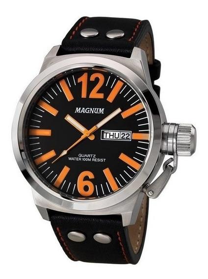 Relógio Magnum Masculino Analógico Couro Ma31524c