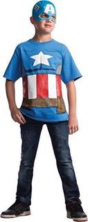 Camiseta De Traje De Marvel Avengers Assemble Captain Americ