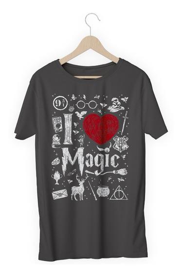 Camisa Camiseta Harry Potter I Love Magic Amo Magica