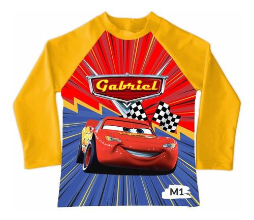 Camiseta De Baño Niño Buzo Cars 3 Mcqueen Mc Queen Piscina