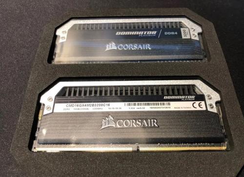 Imagem 1 de 3 de Memória Corsair Dominator Platinum 16gb (2x8gb) 3200mhz Ddr4