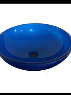 Bacha De Vidrio Azul